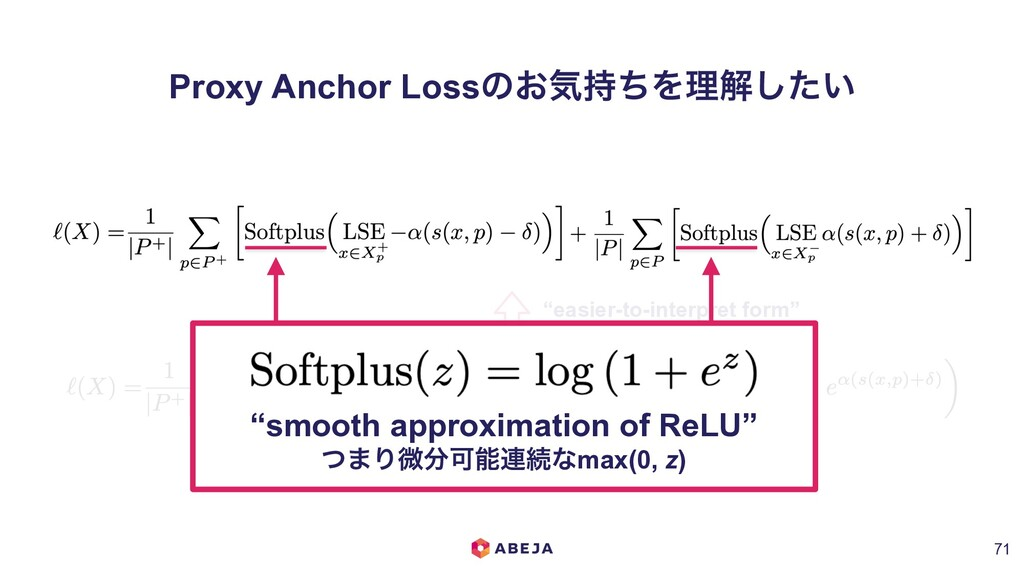 """easier-to-interpret form"" Proxy Anchor Lossͷ͓ؾ..."