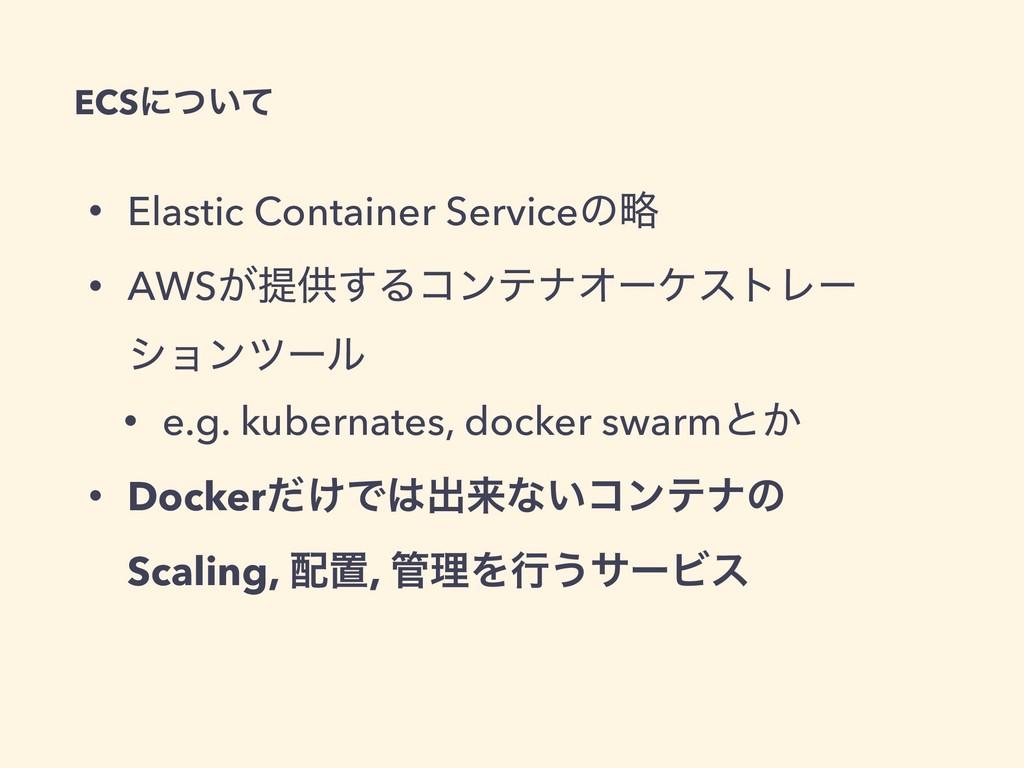 • Elastic Container Serviceͷུ • AWS͕ఏڙ͢ΔίϯςφΦʔέ...