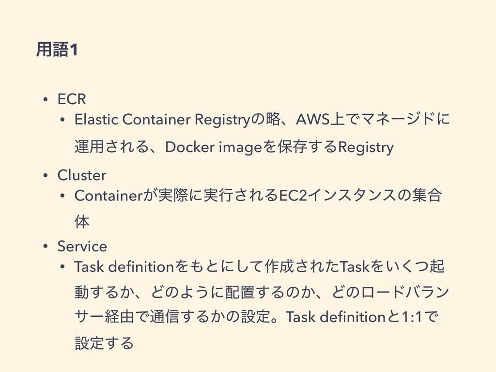 • ECR • Elastic Container RegistryͷུɺAWS্ͰϚωʔδυ...
