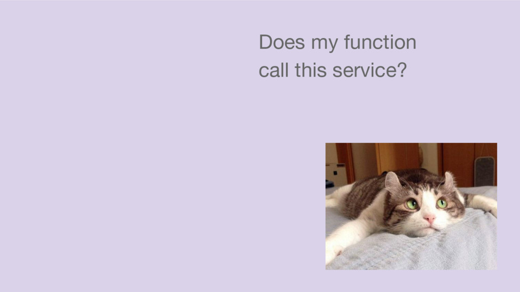 Does my function call this service?
