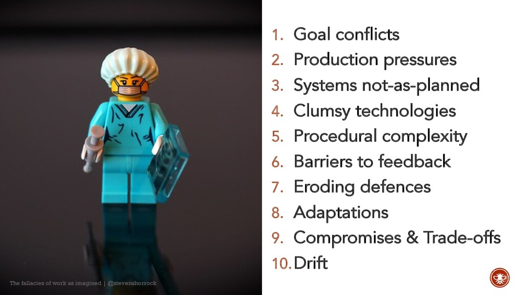 1. Goal conflicts 2. Production pressures 3. Sy...