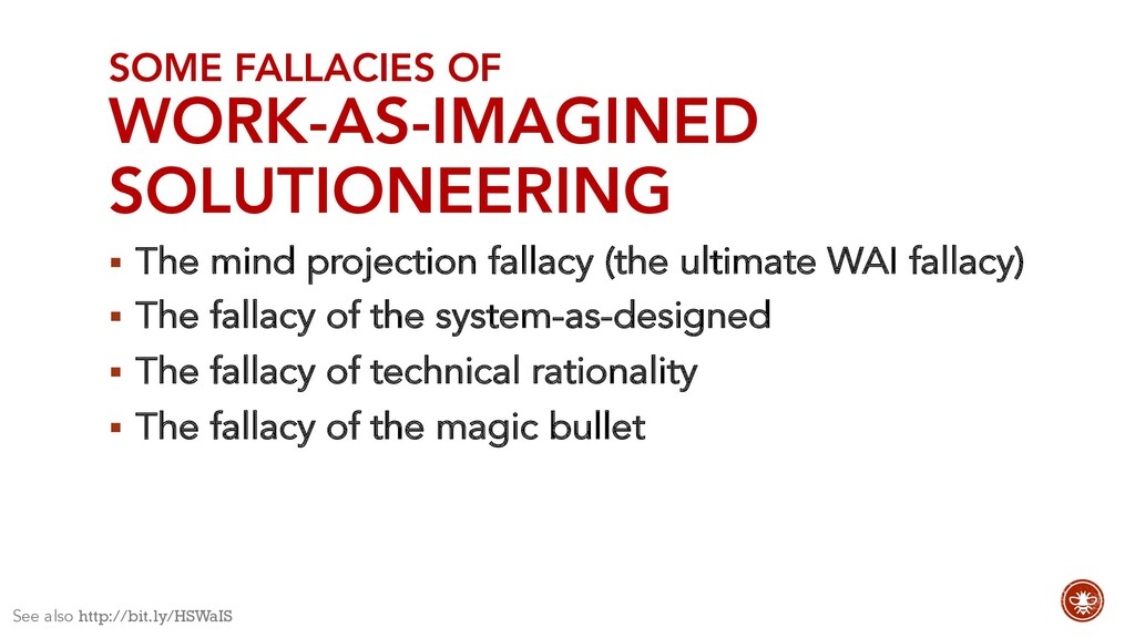 SOME FALLACIES OF WORK-AS-IMAGINED SOLUTIONEERI...