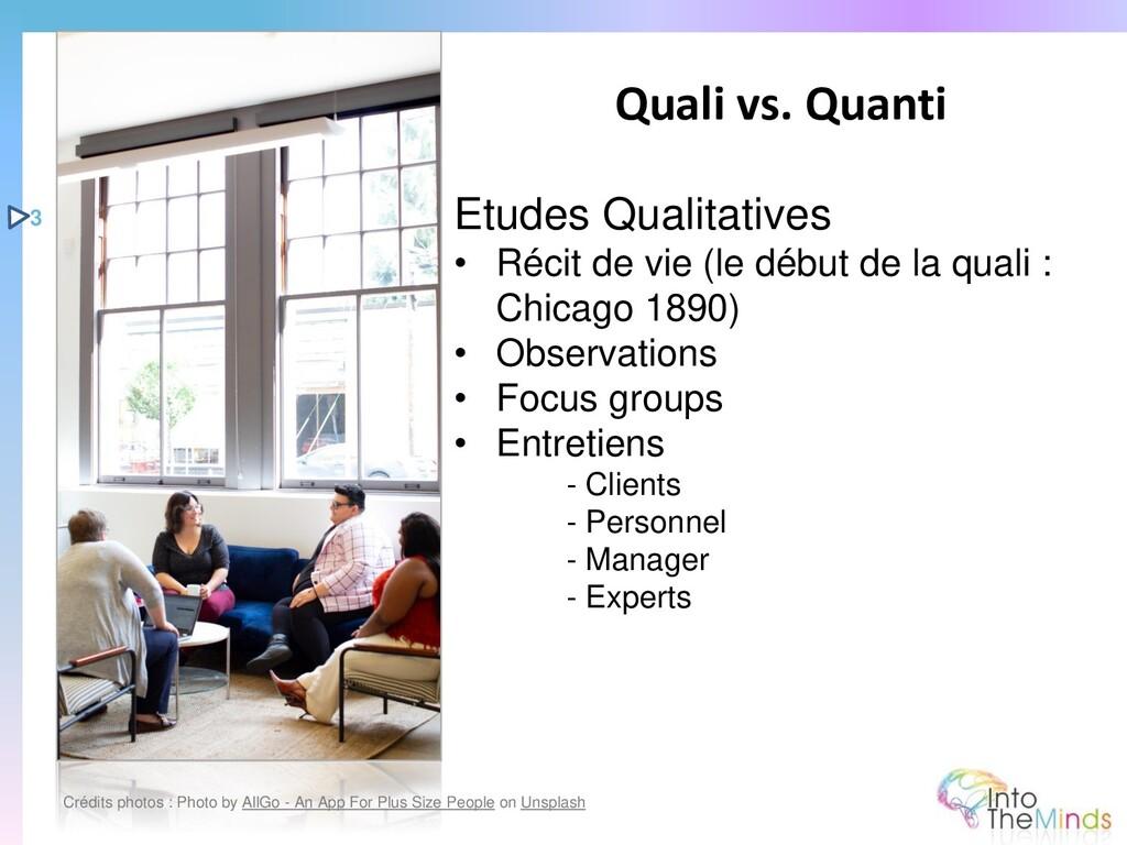 Etudes Qualitatives • Récit de vie (le début de...