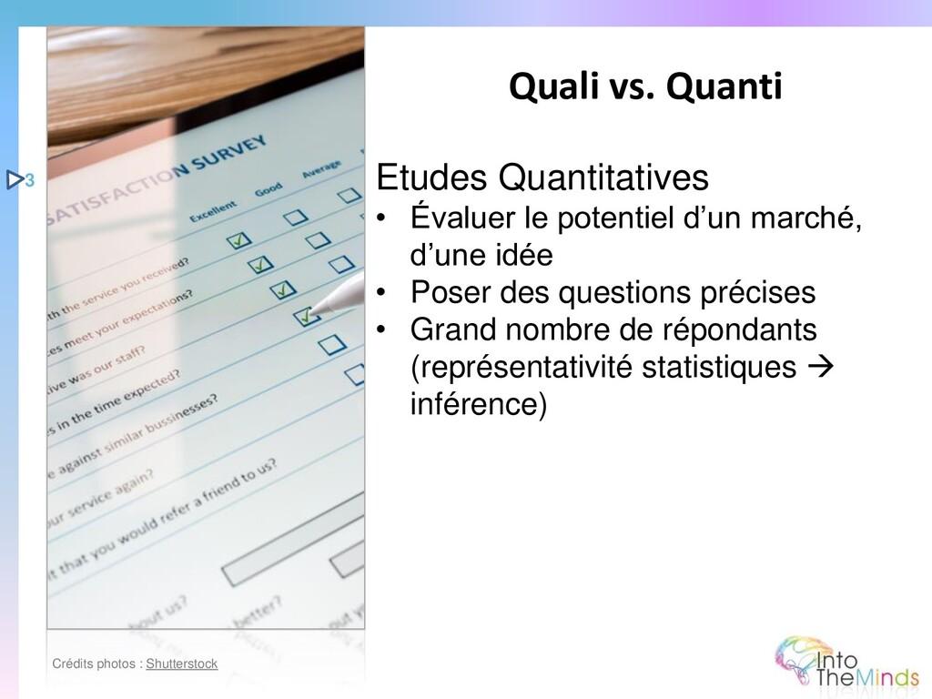 Etudes Quantitatives • Évaluer le potentiel d'u...