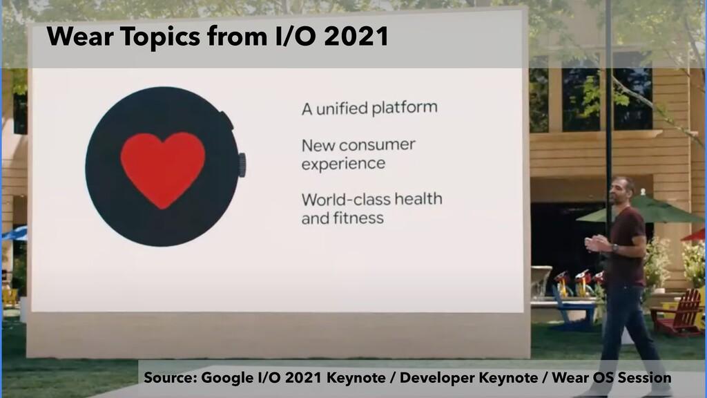 Wear Topics from I/O 2021 Source: Google I/O 20...