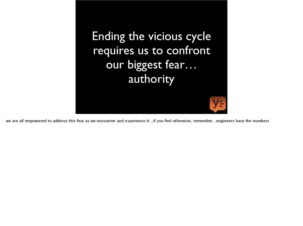 Ending the vicious cycle requires us to confron...