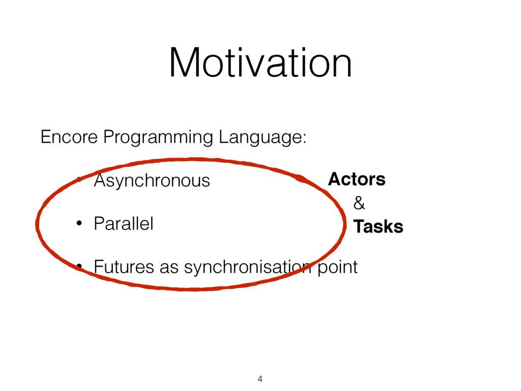 Motivation Encore Programming Language: • Async...