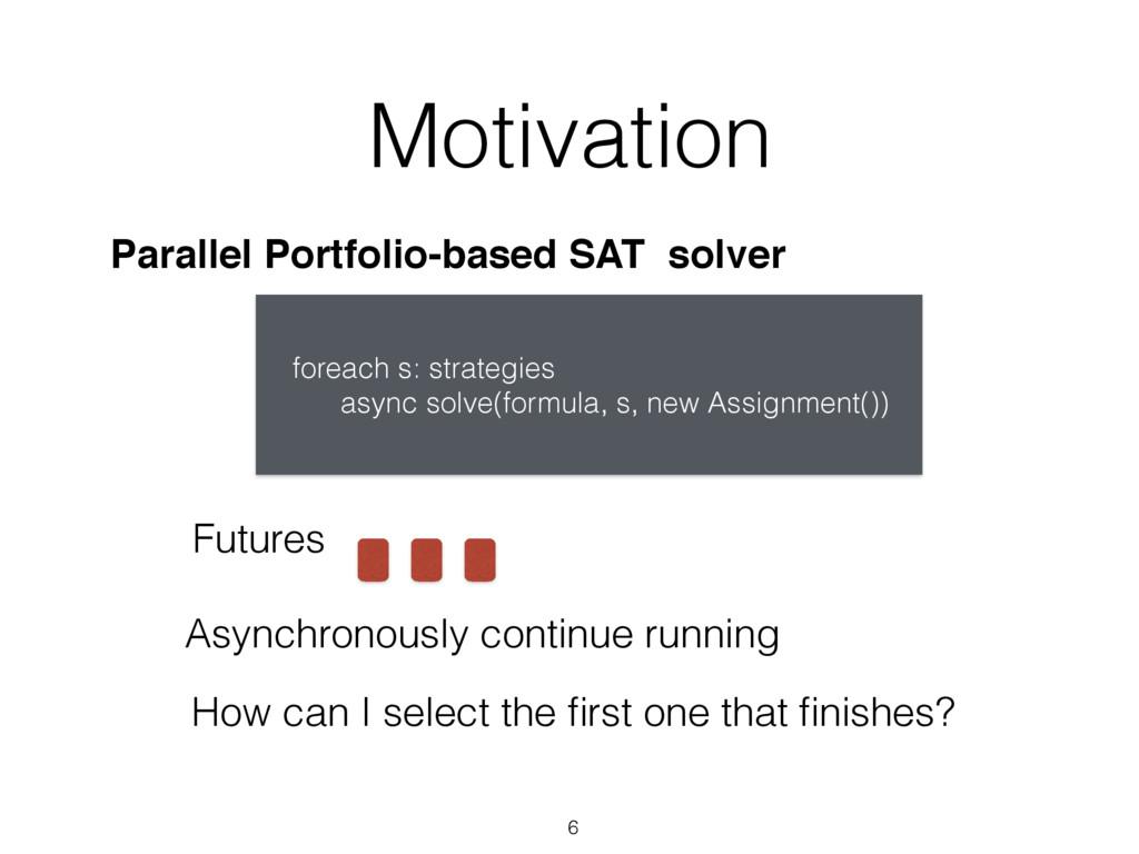 Motivation 6 Parallel Portfolio-based SAT solve...