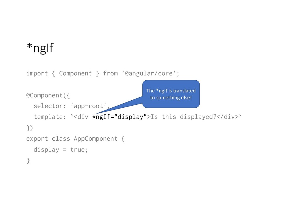 *ngIf import { Component } from '@angular/core'...