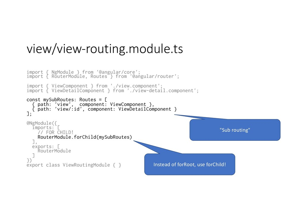 view/view-routing.module.ts import { NgModule }...