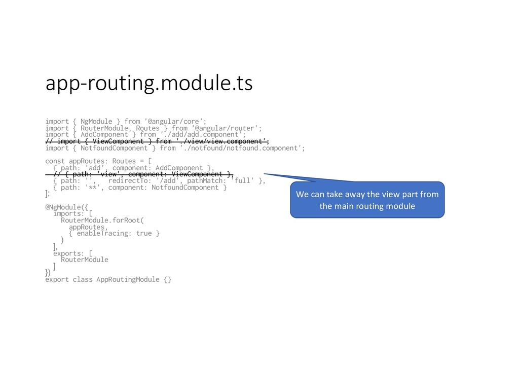 app-routing.module.ts import { NgModule } from ...