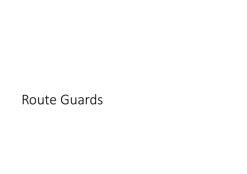 Route Guards