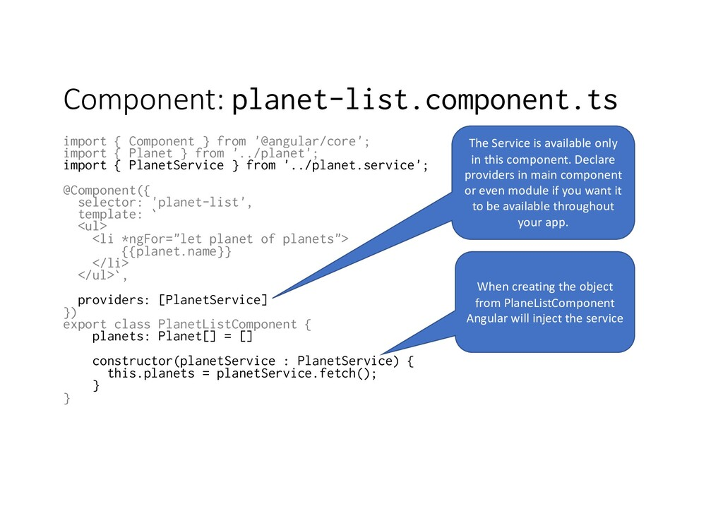 Component: planet-list.component.ts import { Co...
