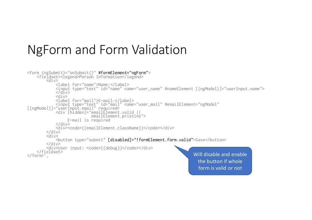 "NgForm and Form Validation <form (ngSubmit)=""on..."