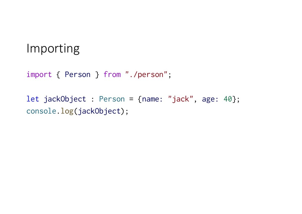 "Importing import { Person } from ""./person""; le..."
