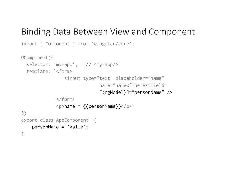 Binding Data Between View and Component import ...