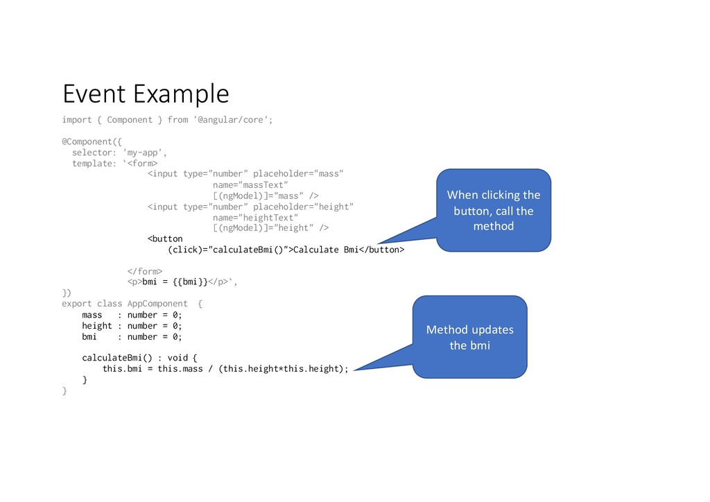 Event Example import { Component } from '@angul...