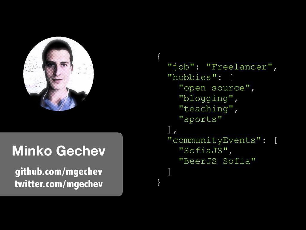 Minko Gechev github.com/mgechev twitter.com/mge...