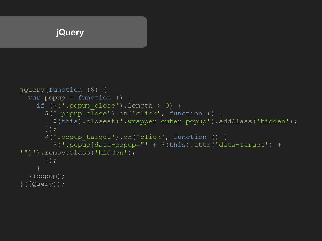 jQuery jQuery(function ($) { var popup = functi...