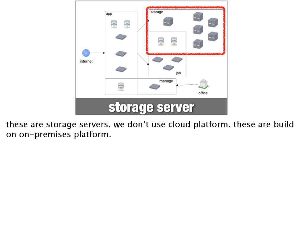 storage server these are storage servers. we do...