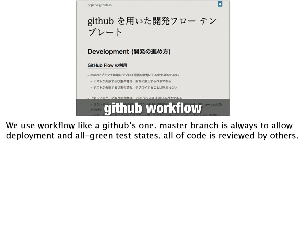 github workflow We use workflow like a github's o...