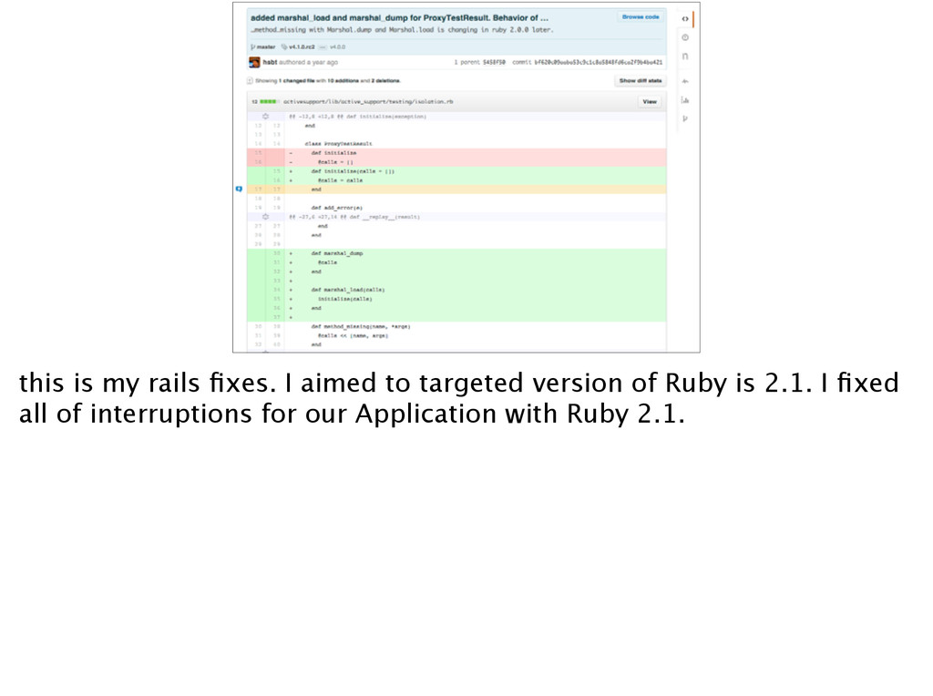 this is my rails fixes. I aimed to targeted vers...