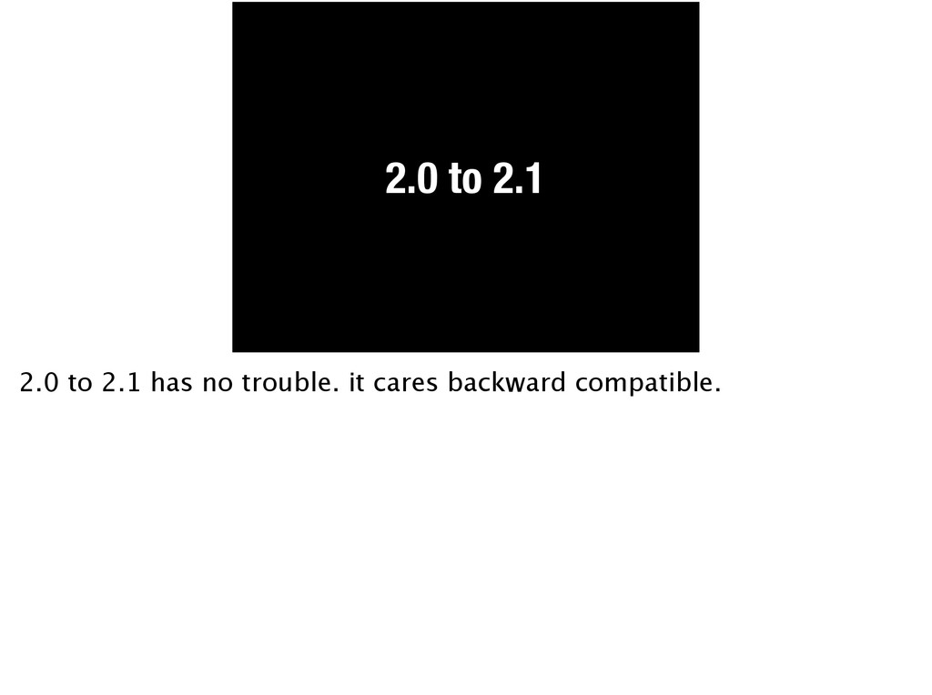 2.0 to 2.1 2.0 to 2.1 has no trouble. it cares ...