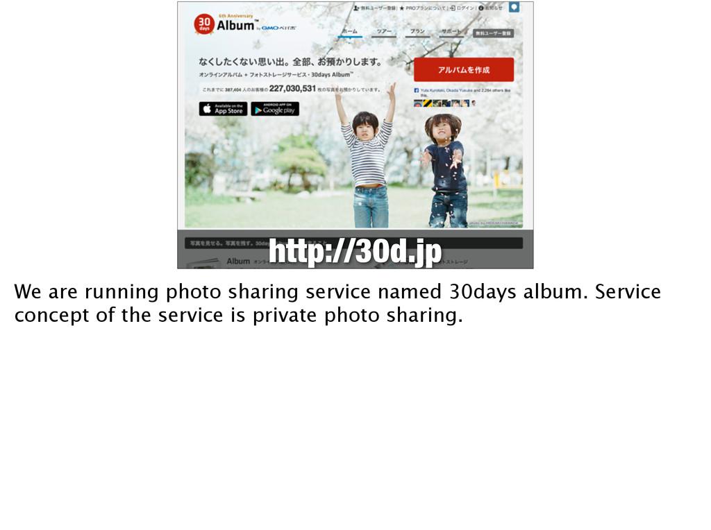 http://30d.jp We are running photo sharing serv...