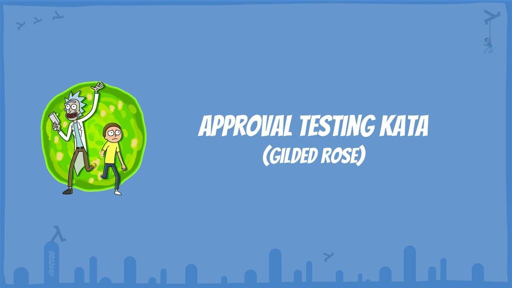 @yot88 Approval testing kata (gilded rose)