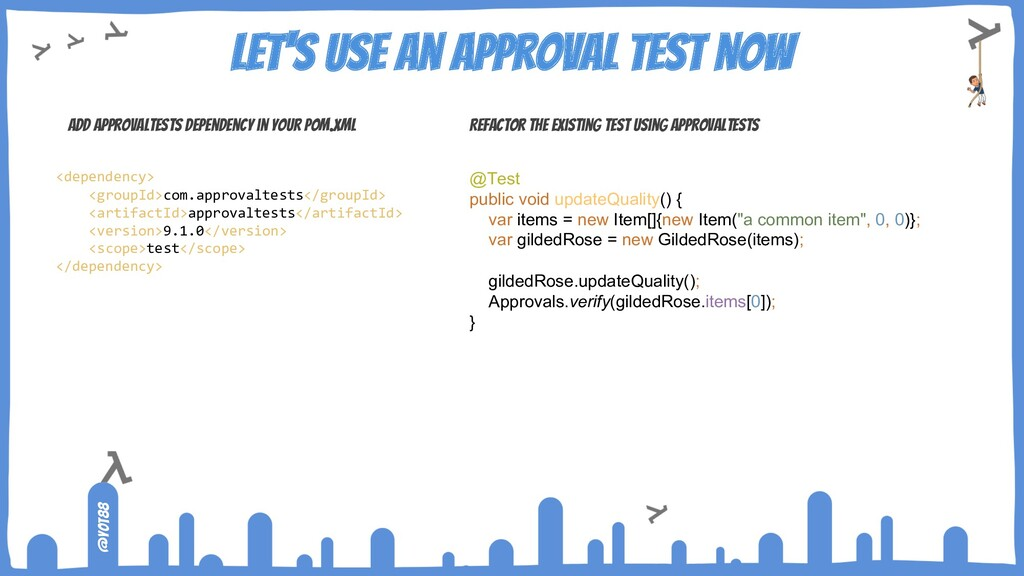 @yot88 Let's use an approval test now Add Appro...