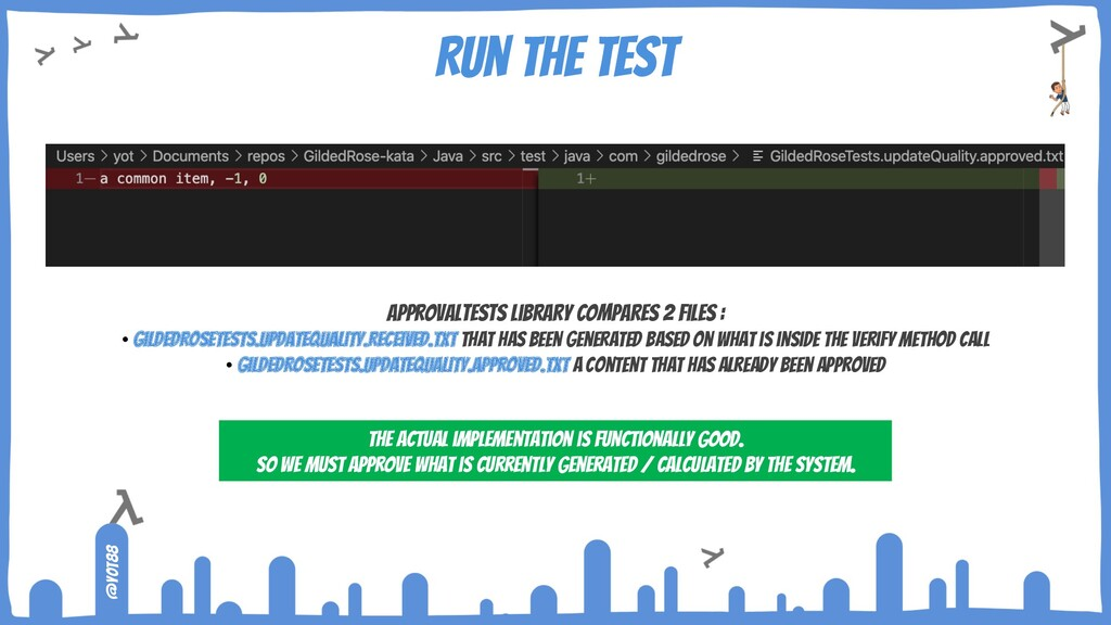 @yot88 Run the test ApprovalTests library compa...