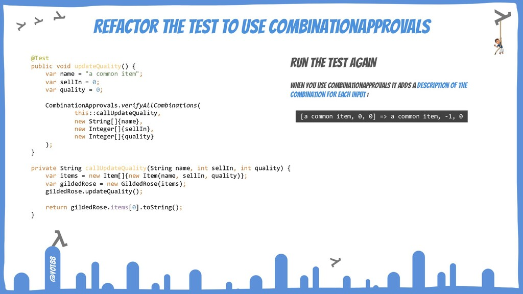 @yot88 Refactor the test to use CombinationAppr...