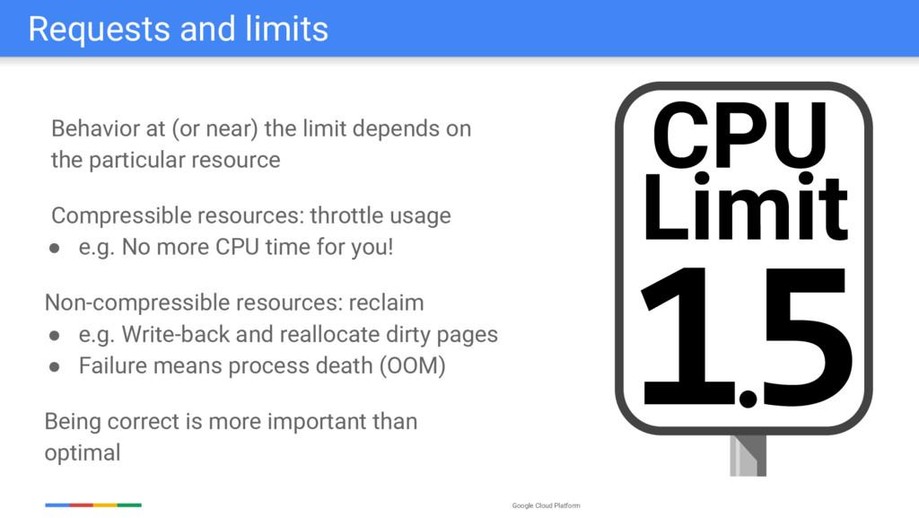 Google Cloud Platform Requests and limits Behav...