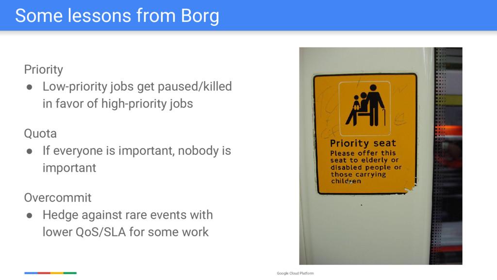 Google Cloud Platform Some lessons from Borg Pr...