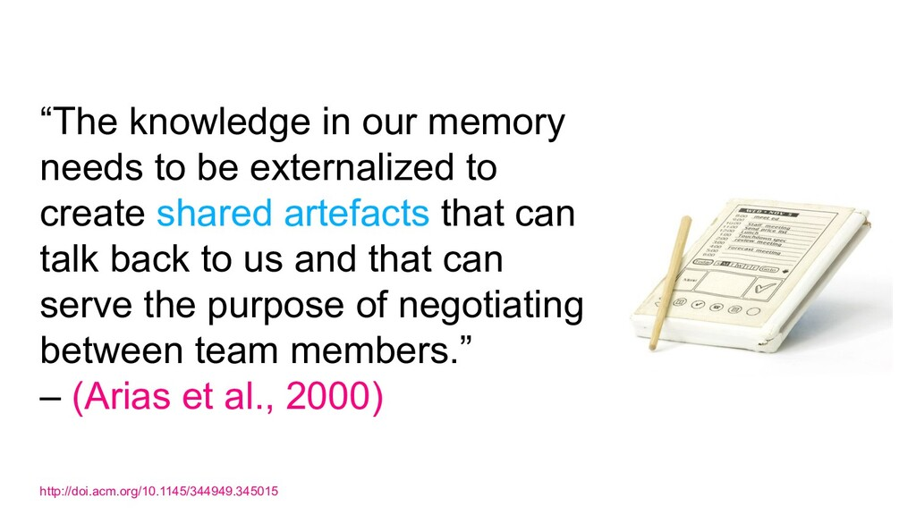 """The knowledge in our memory needs to be extern..."