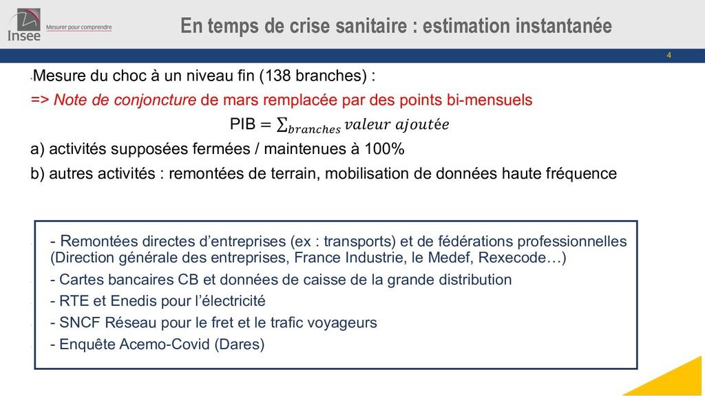 4 En temps de crise sanitaire : estimation inst...