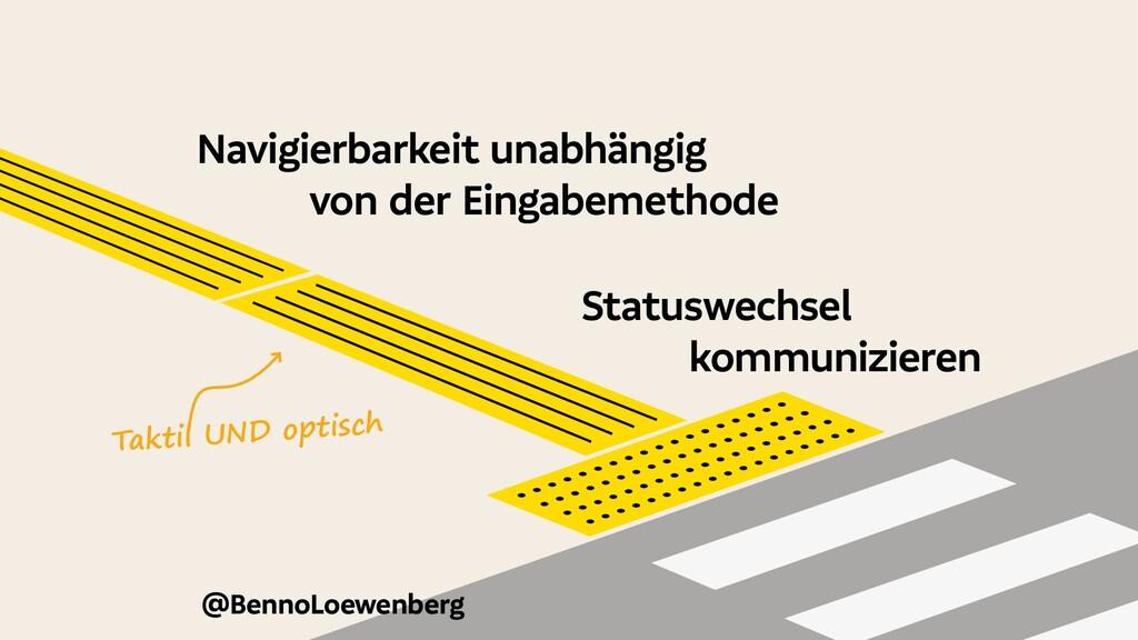 @BennoLoewenberg Navigierbarkeit unabhängig von...