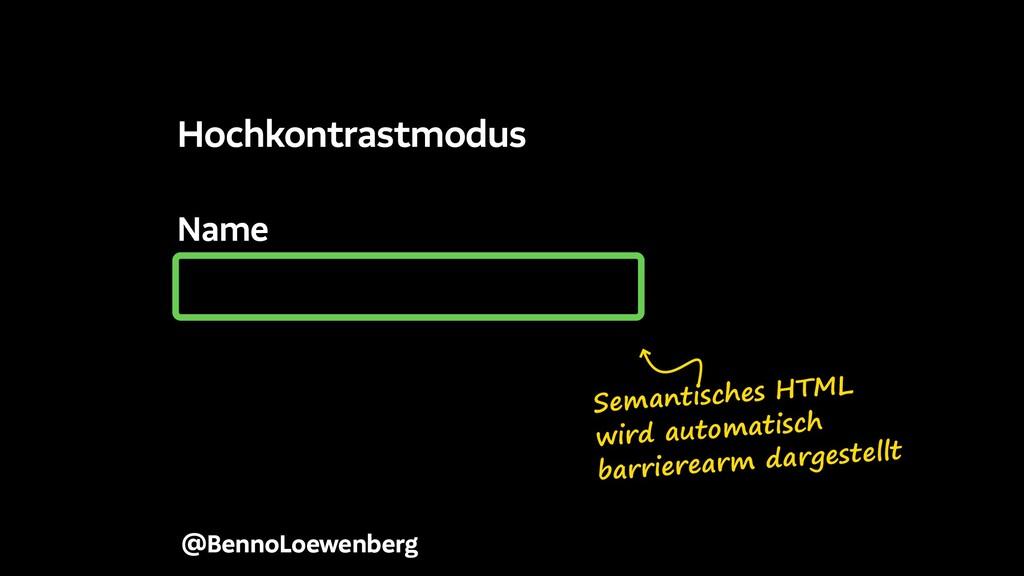 Name @BennoLoewenberg Hochkontrastmodus Semanti...