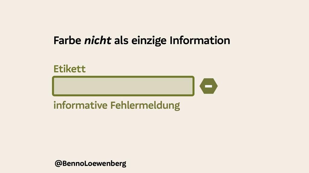 @BennoLoewenberg informative Fehlermeldung − Fa...