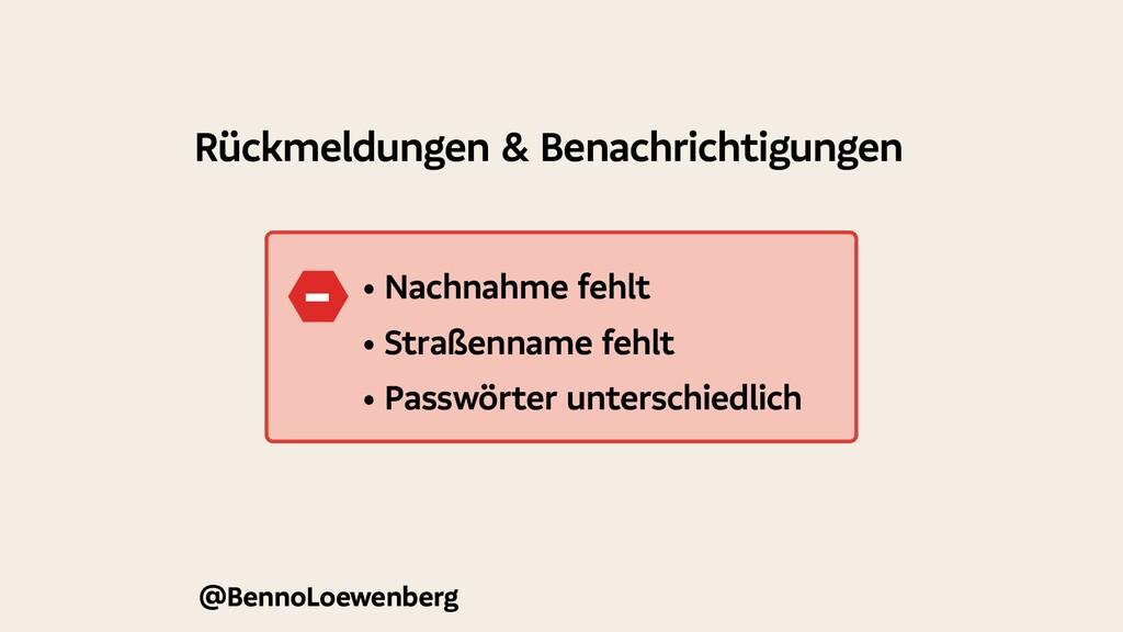 @BennoLoewenberg Rückmeldungen & Benachrichtigu...