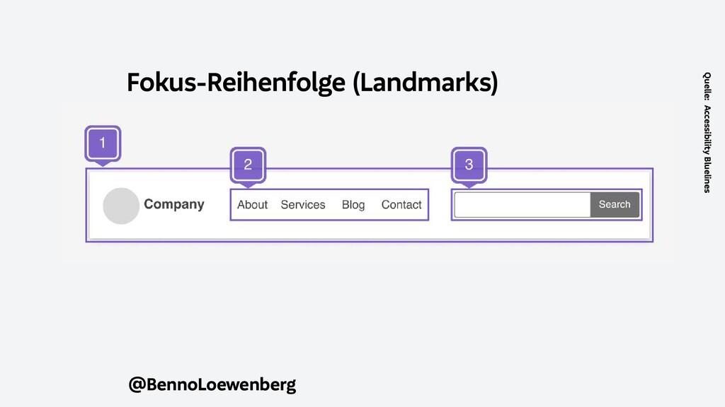 @BennoLoewenberg Fokus-Reihenfolge (Landmarks) ...