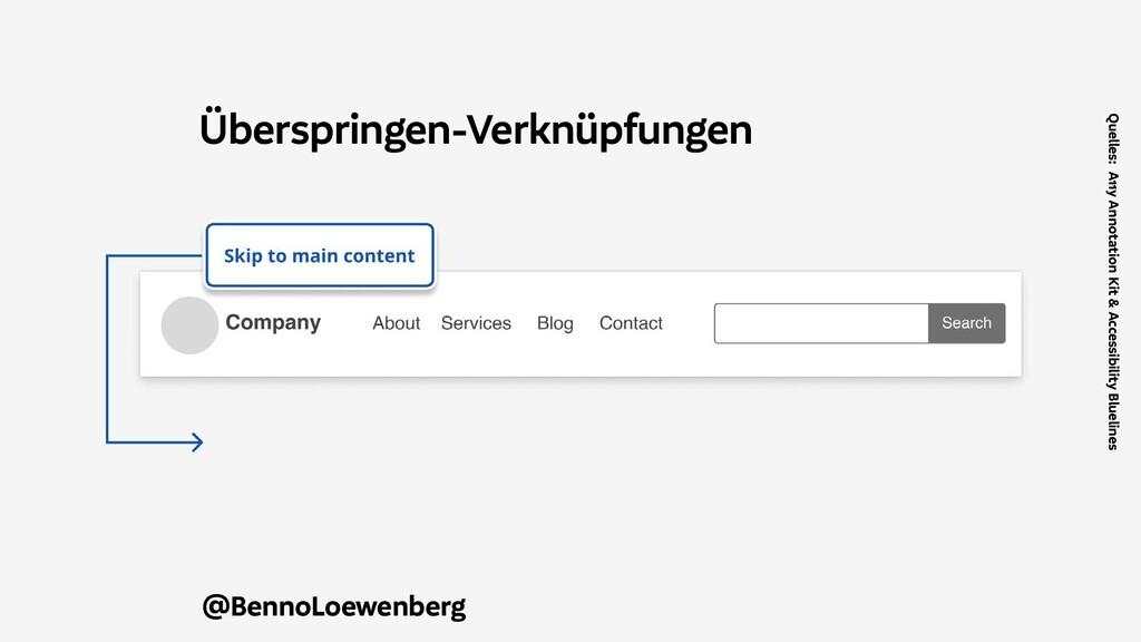 @BennoLoewenberg Überspringen-Verknüpfungen Que...