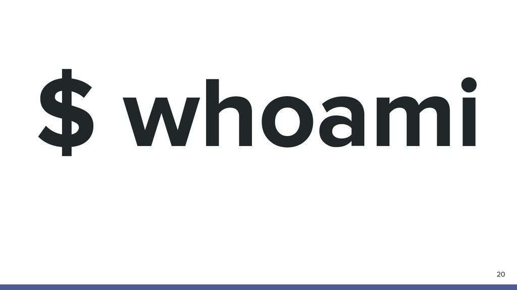 $ whoami 20