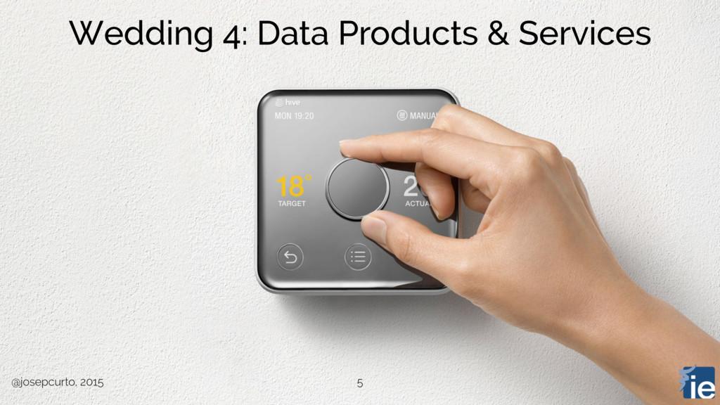 @josepcurto, 2015 5 Wedding 4: Data Products & ...