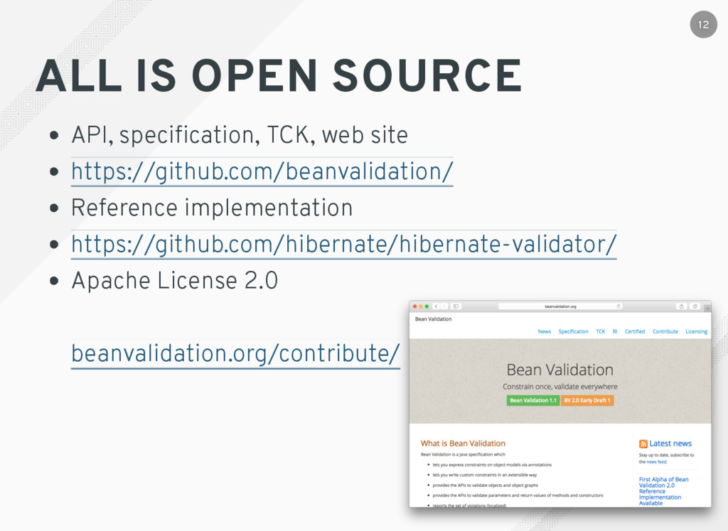 ALL IS OPEN SOURCE API, specification, TCK, web ...