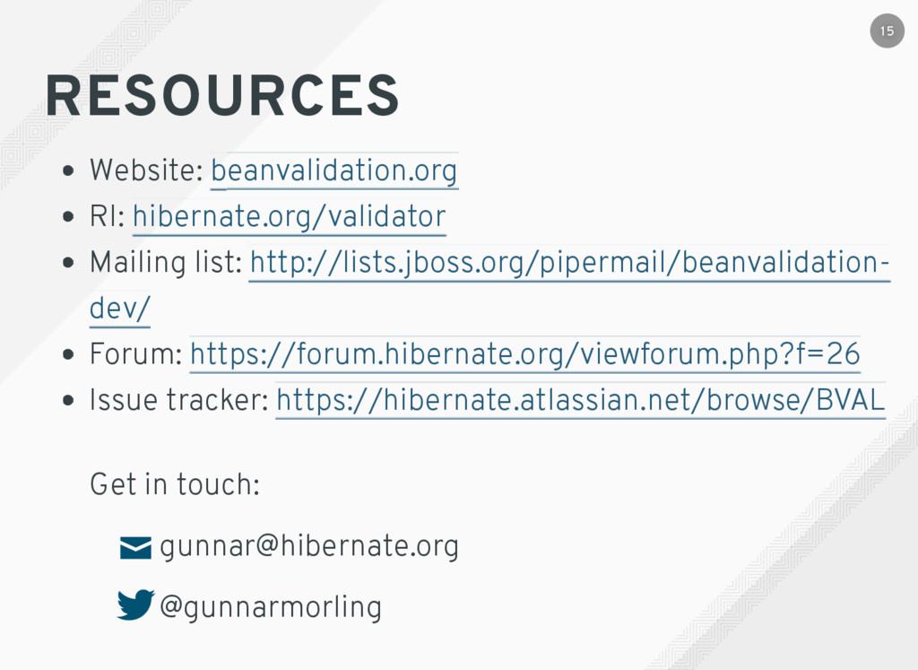 RESOURCES Website: RI: Mailing list: Forum: Iss...