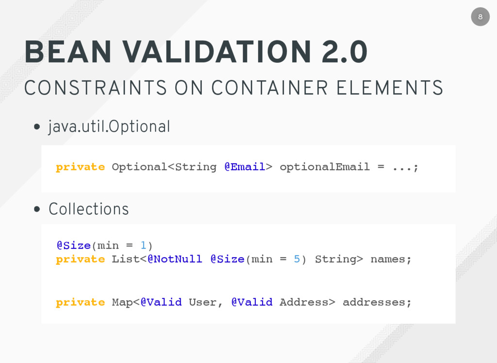 private Optional<String @Email> optionalEmail =...