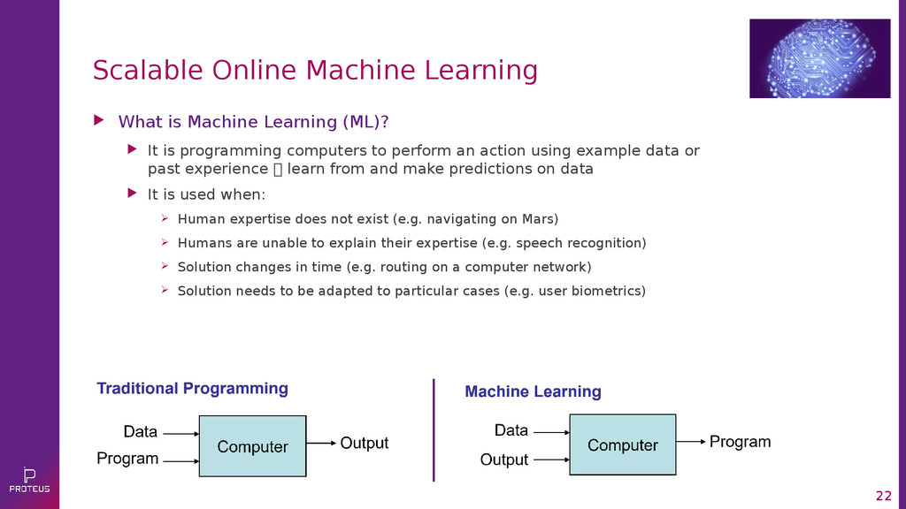 22 Scalable Online Machine Learning  What is M...