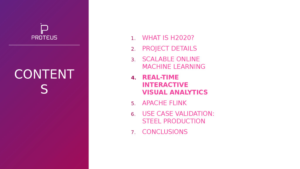 CONTENT S 1. WHAT IS H2020? 2. PROJECT DETAILS ...