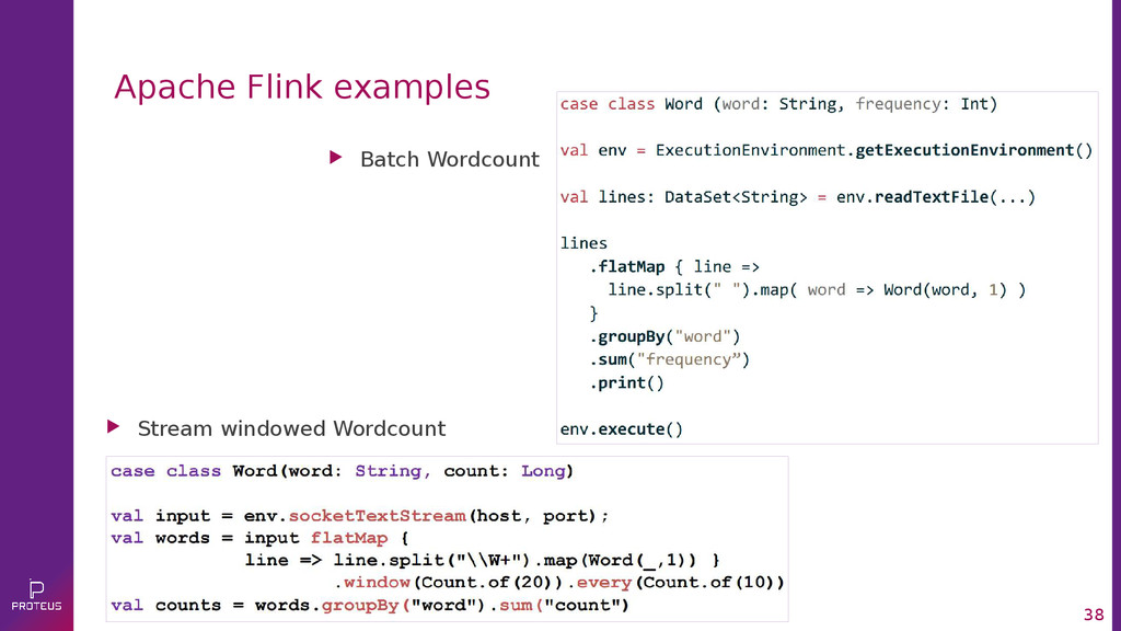 38 Apache Flink examples  Batch Wordcount  St...